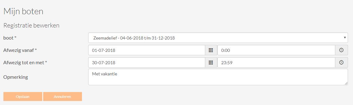 datum aansluiting annuleren account
